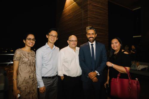 Raman Kaur (BG), Vincent Tan (Edenred), John  Darby (EFA), Baldev Bhinder (BG), April Raimundo (Greystar)