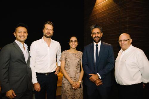 Nick Mowe (EFA), Clement Schappler (EFA), Raman Kaur (BG), Baldev Bhinder (BG), John Darby (EFA)