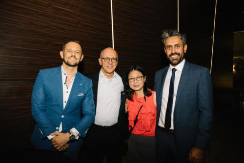 Alex Bursak (Euler Hermes), Steve and Hwee Siang, Baldev Bhinder (BG)